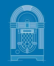 a blueprint of a jukebox