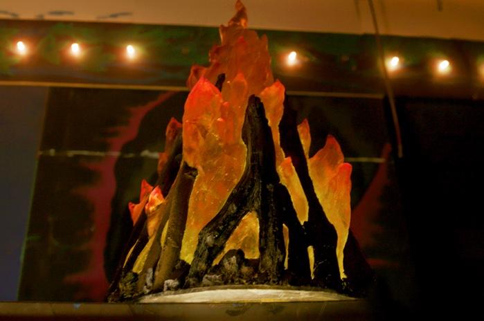 a model of a bonfire